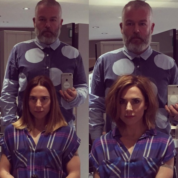 Melanie Chisholm gets new haircut from Adam Reed, Percy & Reed, and she looks like a Posh Spice lookalike!, 30 September 2015