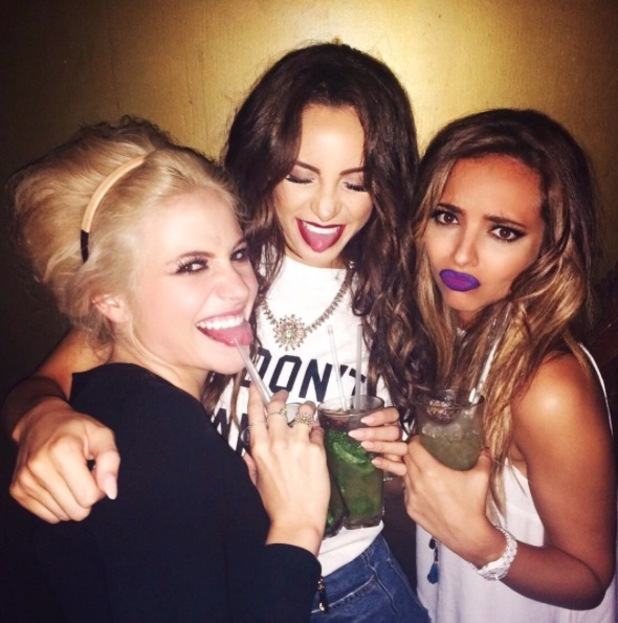 Jade Thirlwall, Little Mix shows off her purple lips on Instagram 2nd October 2015