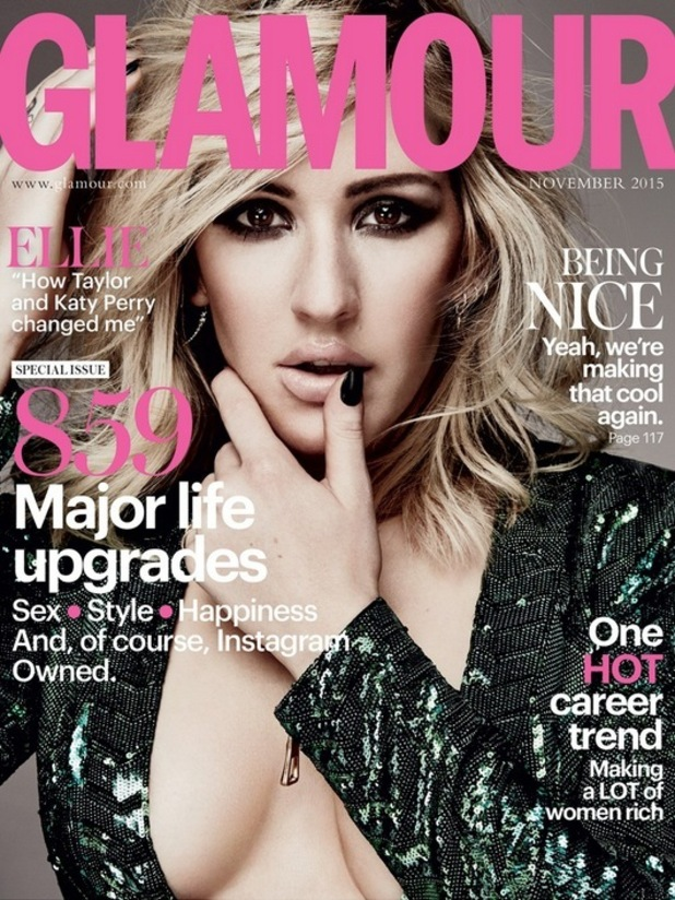 Ellie Goulding is the Glamour magazine cover star for the November 2015 issue