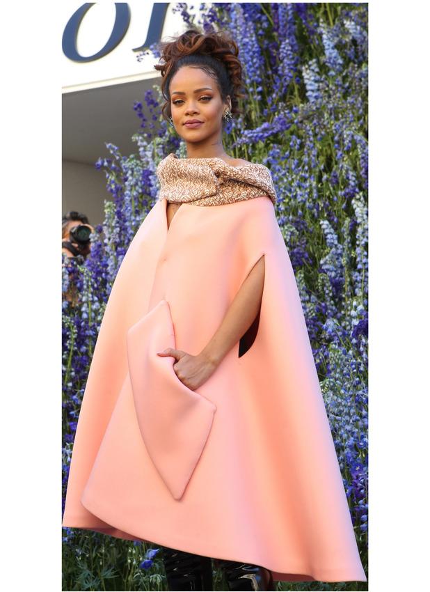 Rihanna at Chrtistian Dior's Paris Fashion Week catwalk show 2nd October 2015