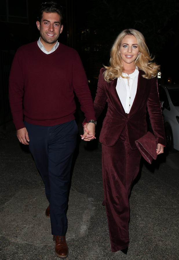 Lydia Bright and James Arg Argent wear matching outfits 1 October