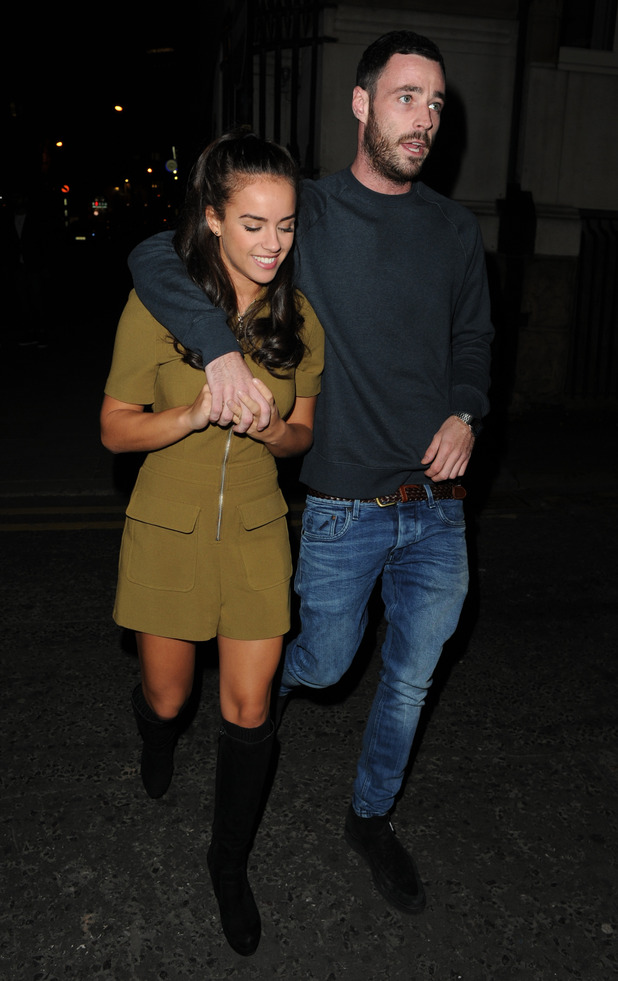 Georgia May Foote and Sean Ward at The Belstaff Store Launch - Manchester - 1 October 2015.