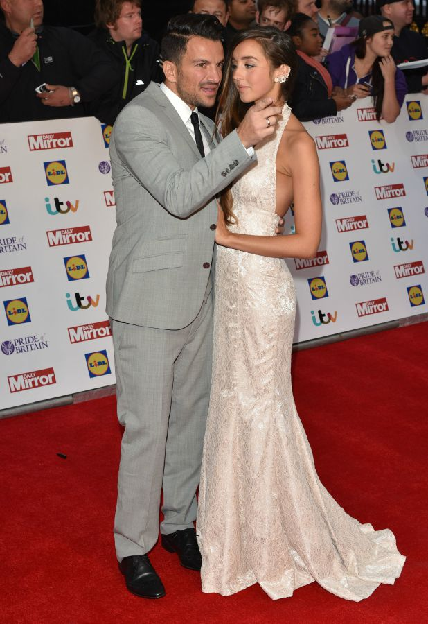 Pride of Britain Awards - arrivals at Grosvenor House Peter Andre and Emily MacDonagh