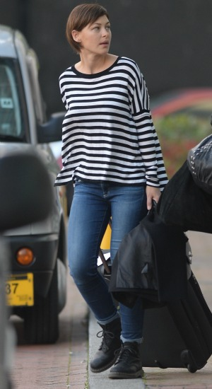 Celebrities leave a hotel in Manchester Emma Willis