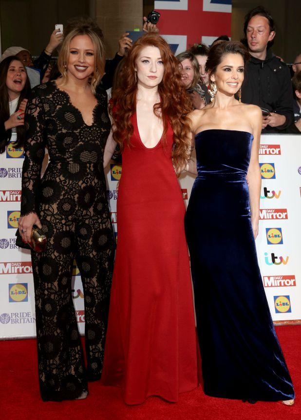Pride of Britain Awards - arrivals at Grosvenor House Cheryl Fernandez-Versini, Kimberley Walsh, Nicola Roberts