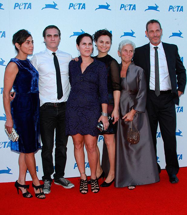 Joaquin Phonenix and family, PETA's 35th Anniversary Bash held at the Hollywood Palladium
