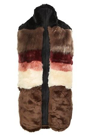 New Look multicoloured faux fur stole, £24.99