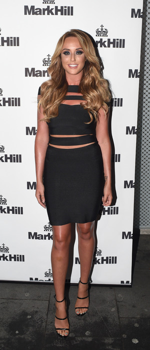 Charlotte Crosby Geordie Shore at Mark Hill Hair Launch party in London 7th October 2015