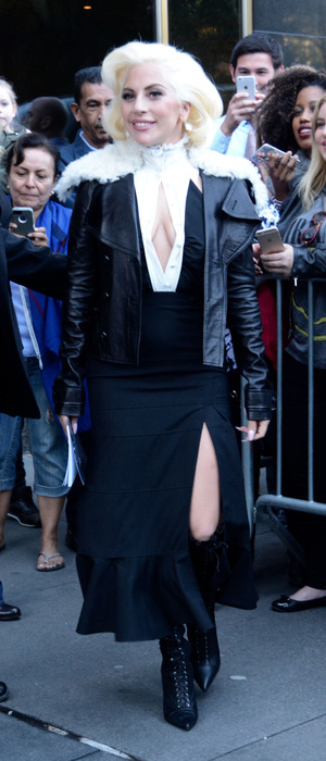 Lady Gaga greeting fans in New York 8th October 2015