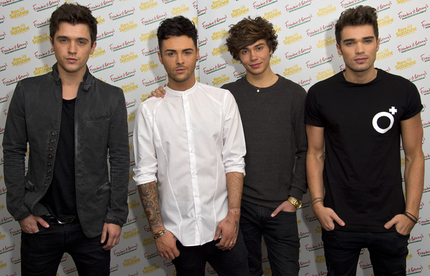 George Shelley, Jaymi Hensley, JJ Hamblett and Josh Cuthbert of Union J attends the Frankie and Benny's Rays of Sunshine Concert at the Royal Albert Hall 7 June