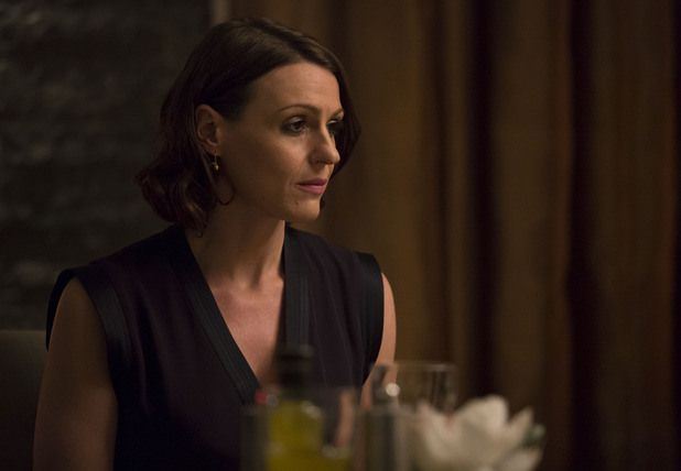 BBC One drama series Doctor Foster. Episode 5 - series finale showing Dr Gemma Foster. 7 October 2015.
