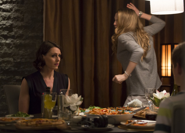 BBC One drama series Doctor Foster. Episode 5 - series finale showing Kate Parks and Dr Gemma Foster. 7 October 2015.