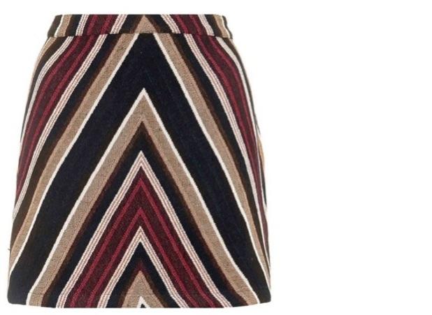 Topshop '70s Chevron Mini Skirt, £35.00