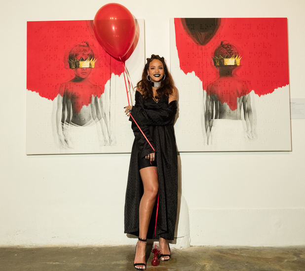 Rihanna at 8th Album artwork unveiling at MAMA Gallery in L.A, 8th October 2015