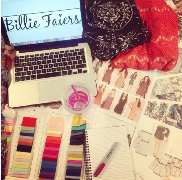 TOWIE's Billie Faiers hints at upcoming fashion collection on Instagram 4th October 2015