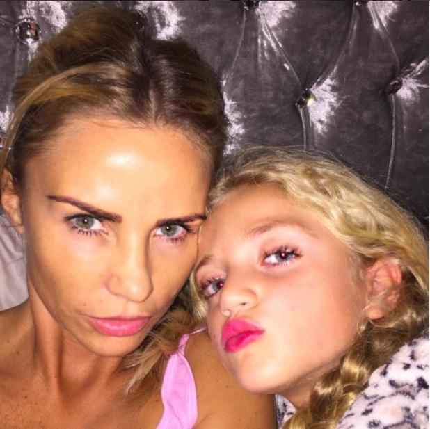 Katie Price shares selfie with daughter Princess, 7 October 2015
