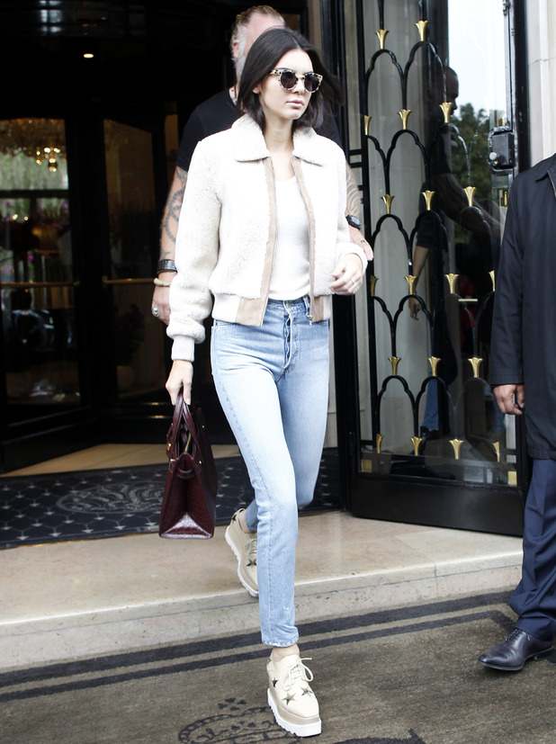 Kendall Jenner leaving Four Seasons Hotel George V during Paris Fashion Week, 5th October 2015