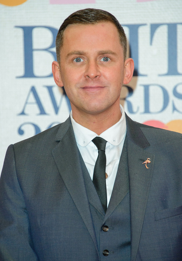 Scott Mills at the Brit Awards 2015 (Brits) held at the O2. 25 February 2015.