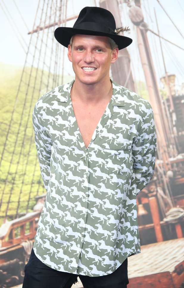 Jamie Laing at the Pan World Premiere held at Leicester Square - Arrivals - 20 September 2015.