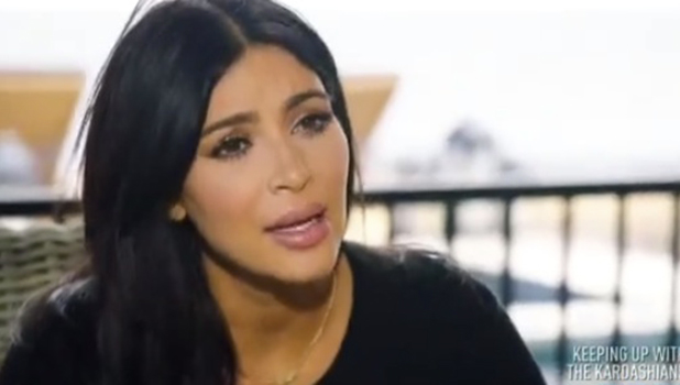 Keeping Up With The Kardashians screengrab: Kim Kardashian