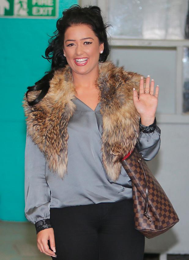 X Factor Lauren Murray outside ITV Studios 5 Oct 2015