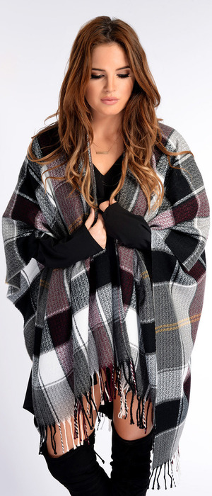 Binky Felstead In The Style Collection Knitted Cape, £27.9914th October 2015