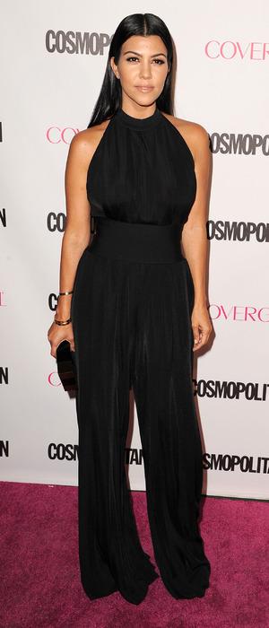 Kourtney Kardashian wears jumpsuit at Cosmopolitan 50th Birthday Party, Hollywood, 13th October 2015