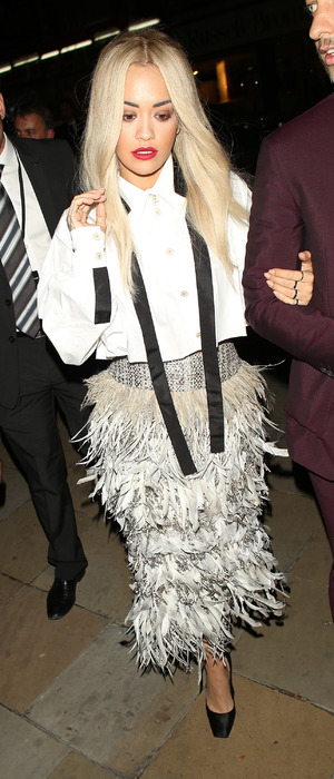 Rita Ora attending the Chanel Exhibition Party at the Saatchi Gallery in London 13th October 2015