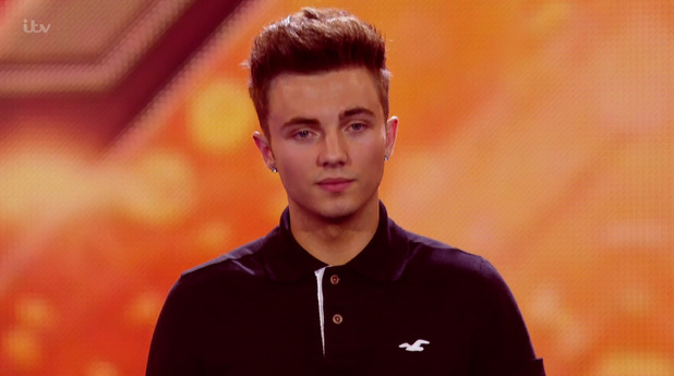 Ollie Marland on the Boys 6 Chair Challenge edition of 'The X Factor'. 11 October 2015.