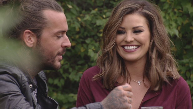 TOWIE: Jessica Wright and Pete Wicks enjoy a drink together. Episode aired: 14 October 2015.