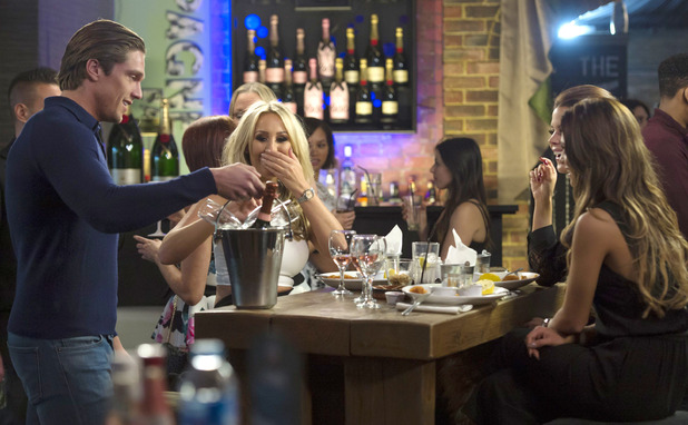 TOWIE: Lewis Bloor, Kate Wright, Chloe Lewis and Nicole Bass have lunch at The Brickyard, Romford, Britain - 14 Oct 2015