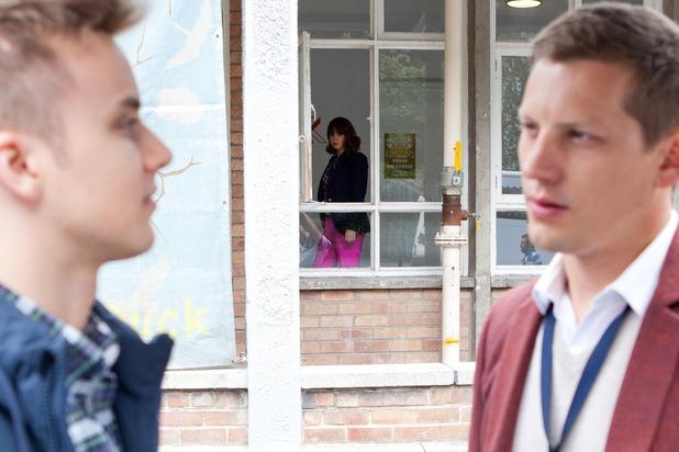 Hollyoaks, Nancy suspicious of Harry and John Paul, Thu 15 Oct