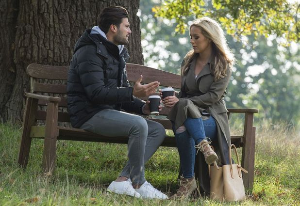 TOWIE stars Dan Edgar and Kate Wright have heart to heart, Essex 13 October