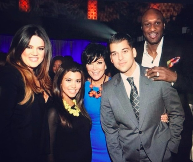 Kris Jenner shares picture with Lamar Odom as she asks fans to pray for him, 18 October 2015