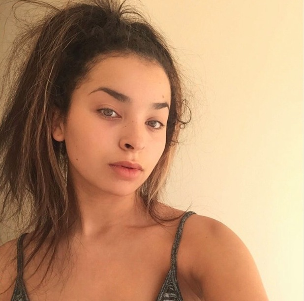Ella Eyre shares no make-up straight hair selfie to Instagram 12th October 2015