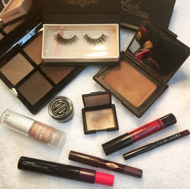 Make-up artist Adam Burrell shows off the make-up used on Little Mix for their performance on The X Factor Australia, 13 October 2015