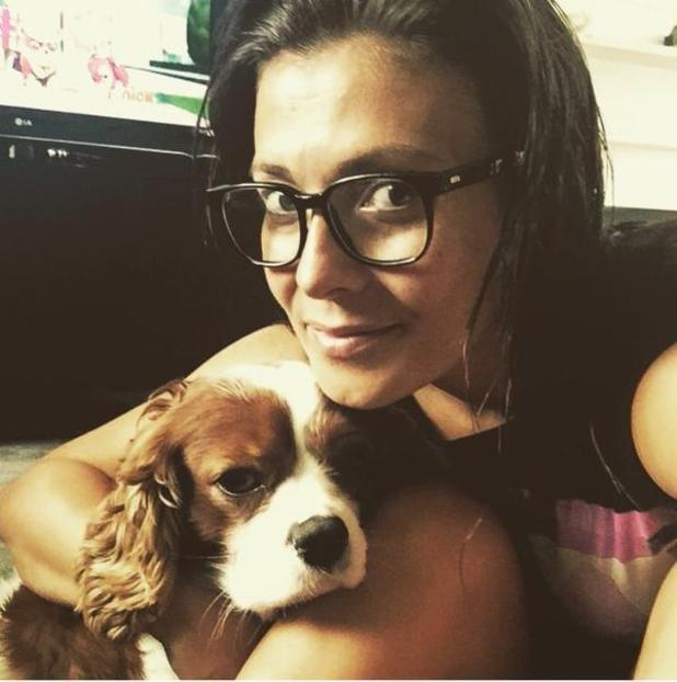 Kym Marsh and her pet pooch.