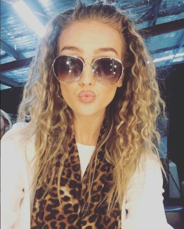 Perrie Edwards, Little Mix shares a picture of her curly hair on Instagram, 13th October 2015