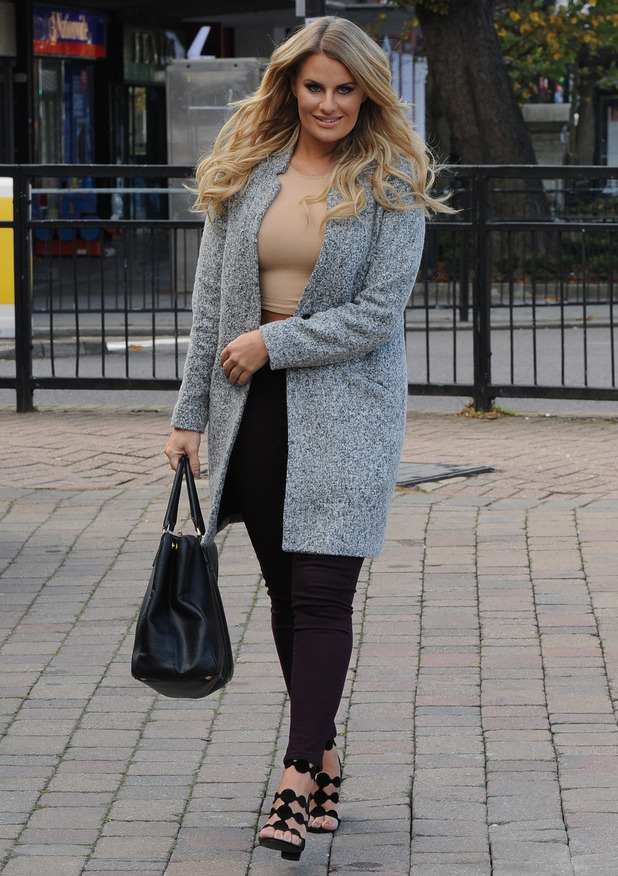 Danielle Armstrong is seen filming 'The Only Way is Essex' in Brentwood, 13th October 2015