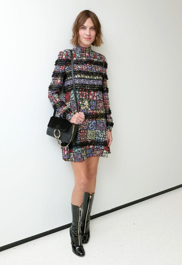 Alexa Chung at the CFDA x Vogue: Fashion Fund Design Challenge Cocktail, New York, America - 13 Oct 2015