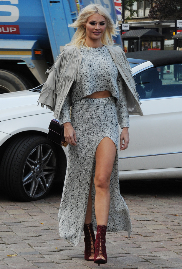 Chloe Sims is seen filming 'The Only Way is Essex' in Brentwood, 13th October 2015