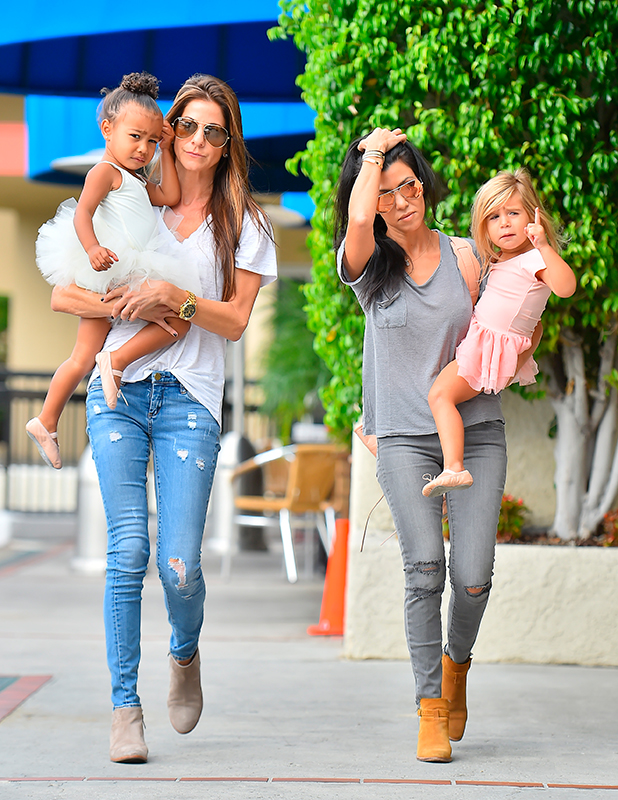 Kourtney Kardashian takes Penelope and North to ballet class in Encino 14 Oct 2015