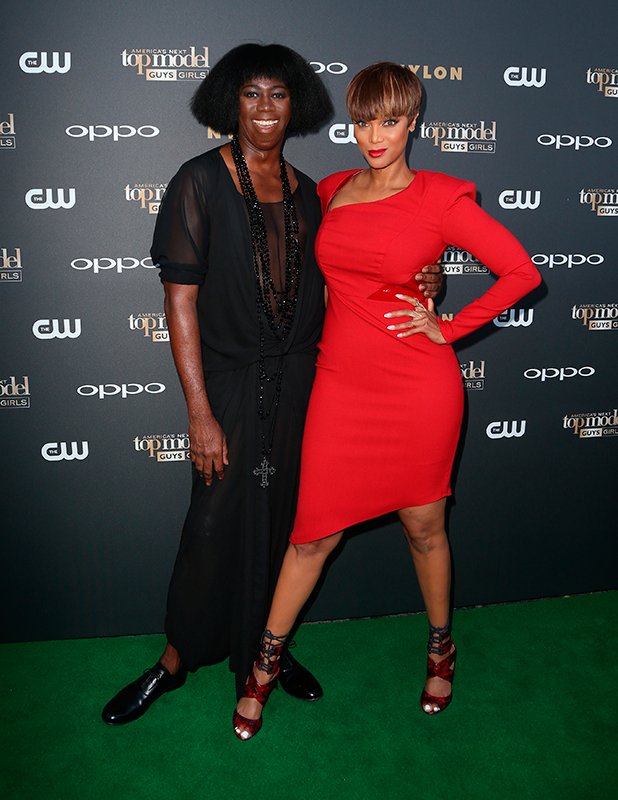 "America's Next Top Model"" Cycle 22 Premiere Party Presented By OPPO And NYLON Tyra Banks and Miss J"