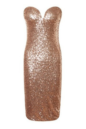 Lipsy sistaglam sequin sweetheart bandeau bodycon dress, £70 - October 2015
