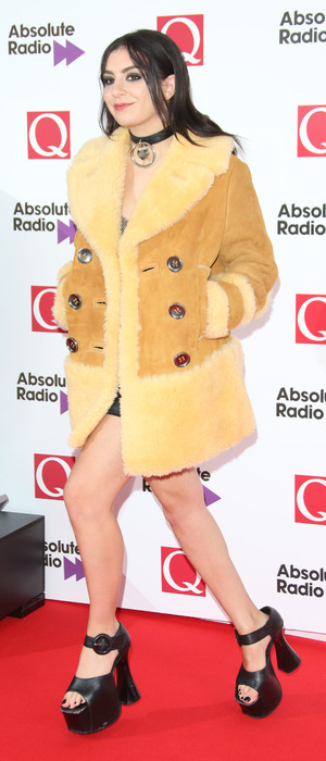 Charli XCX attends the Q Awards in London, 19th October 2015