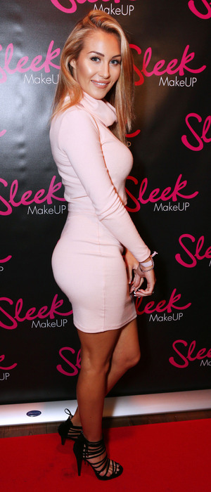 Chloe Goodman attends the Sleek MakeUP 24K Gold Collection launch in London, 22nd October 2015