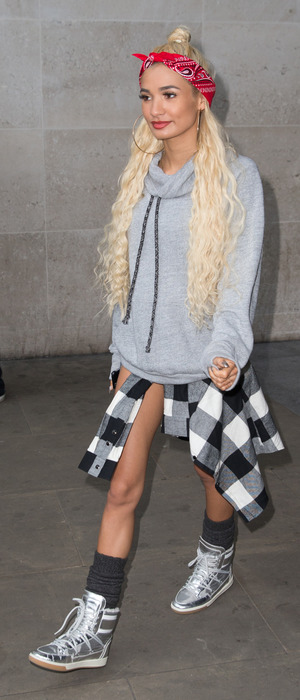 Pia Mia out and about in London, visiting Radio 1 HQ, 23rd October 2015
