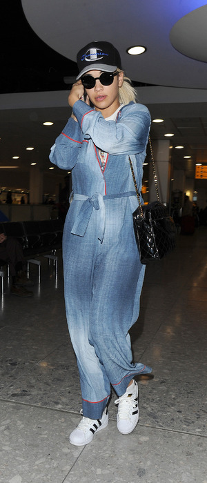 Rita Ora arriving at Heathrow airport, 19th October 2015