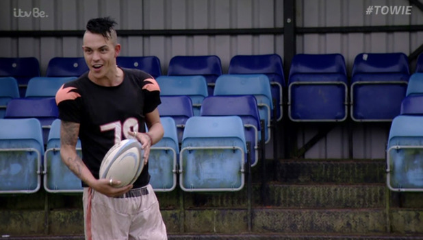 Bobby Norris aims to get buff by playing a game of rugby, 11 October 2015