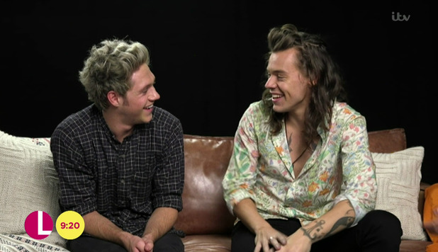 Lorraine Kelly interviews Niall Horan and Harry Styles - 19 October 2015.